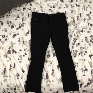 7 For all Mankind Girls Black Jean leggings